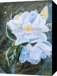 WHITE MAGNOLIA, Paintings, Abstract,Modernism, Botanical,Floral,Nature, Acrylic, By HSIN LIN