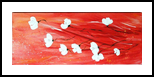 white poppies, Paintings, Futurism,Modernism, Botanical,Decorative,Floral,Nature, Acrylic,Painting, By Dana Krecere