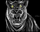 White tiger, Digital Art / Computer Art, Expressionism,Impressionism, Animals, Digital, By Andrew Kuzmin