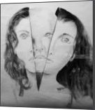 WHO WE REALLY ARE, Drawings / Sketch, Expressionism,Fine Art,Realism, People,Portrait, Charcoal,Pencil, By Clive Micah Mulundira
