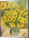 Wild sunflowers, Paintings, Fine Art, Botanical, Canvas, By Lubov Pavluk