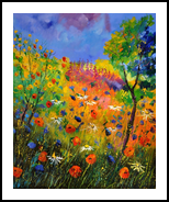 wildflowers 1012, Paintings, Expressionism, Landscape, Canvas, By Pol Henry Ledent