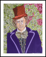 Willy's Roses, Paintings, Pop Art, Portrait, Acrylic, By L Lovenstein