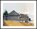 Wind Swept, Paintings, Realism, Landscape, Watercolor, By William Clark