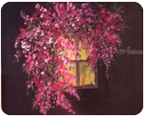 Window in the dark, Paintings, Realism, Floral, Acrylic, By zakia siddiqui