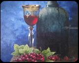 Wine and currants. Velikiy Nikolay 2017, Paintings, Realism, Still Life, Canvas,Oil, By Nikolay Velikiy