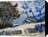 winter 655120, Paintings, Impressionism, Landscape, Canvas, By Pol Henry Ledent