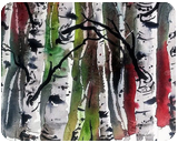 Winter Birches, Land Art, Fine Art, Landscape, Painting, By james Allen lagasse