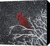 Winter Cardinal, Paintings, Fine Art, Decorative,Environmental art,Nature,Still Life,Wildlife, Oil, By Robert Douglas Given