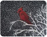Winter Cardinal, Paintings, Fine Art, Decorative,Environmental art,Nature,Still Life,Wildlife, Oil, By Robert Douglas Given