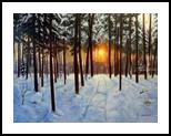 WINTER IN MARYSIN, Paintings, Realism, Landscape, Oil, By Zenon Wladyslaw Rozycki