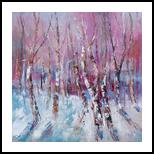 WINTER MAGIC #1, Paintings, Expressionism, Land Art,Landscape,Nature, Oil, By Emilia Milcheva