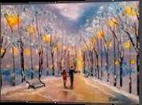Winter romance, Paintings, Impressionism, Landscape, Painting, By Valeriy Politov