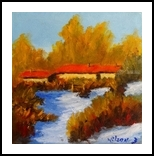 Winter Sun, Paintings, Realism, Landscape, Oil, By fred wilson