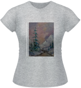 Winter sunset, Paintings, Impressionism, Landscape, Canvas, By Valeriy Politov
