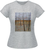 winter woods, Paintings, Existentialism,Expressionism,Fine Art, Figurative,Landscape,Portrait, Oil,Pencil,Wood, By federico cortese