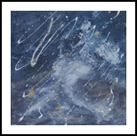 Winternight, Paintings, Abstract,Modernism, Decorative,Fantasy,Nature, Acrylic,Canvas,Mixed,Painting, By Dana Krecere