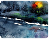 Wintertime landscapes IV, Paintings, Impressionism, Landscape, Watercolor, By Kovacs Anna Brigitta