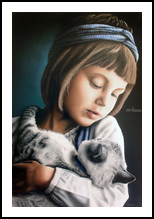 Without name but not without love, Paintings, Fine Art,Photorealism,Realism,Romanticism, Animals,Figurative,Portrait, Oil, By Ivan Pili