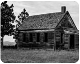 Wyoming Shack In Black And White, Photography, Fine Art, Architecture, Photography: Premium Print, By Jim Stewart