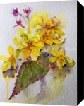 Yellow Begonias, Paintings, Fine Art, Floral, Watercolor, By Bee Inch