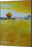 Yellow Flamboyan, Paintings, Impressionism, Landscape, Oil, By Alicia Maury Fine Art