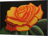 Yellow Rose, Paintings, Abstract, Floral, Acrylic, By melanie ann lutes