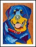 You Can Teach an Old Dog New Tricks, Paintings, Fine Art, Animals, Acrylic, By Curtis Dickman