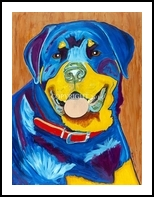 You can teach an old dog new tricks, Paintings, Surrealism, Animals, Acrylic, By Curtis Dickman