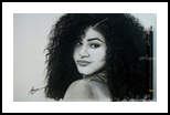 Zendaya, Drawings / Sketch, Fine Art, Portrait, Charcoal, By Emmanuel Ibiwumi Abodunrin
