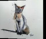 Zeus The Cat, Paintings, Fine Art, Animals, Watercolor, By james Allen lagasse