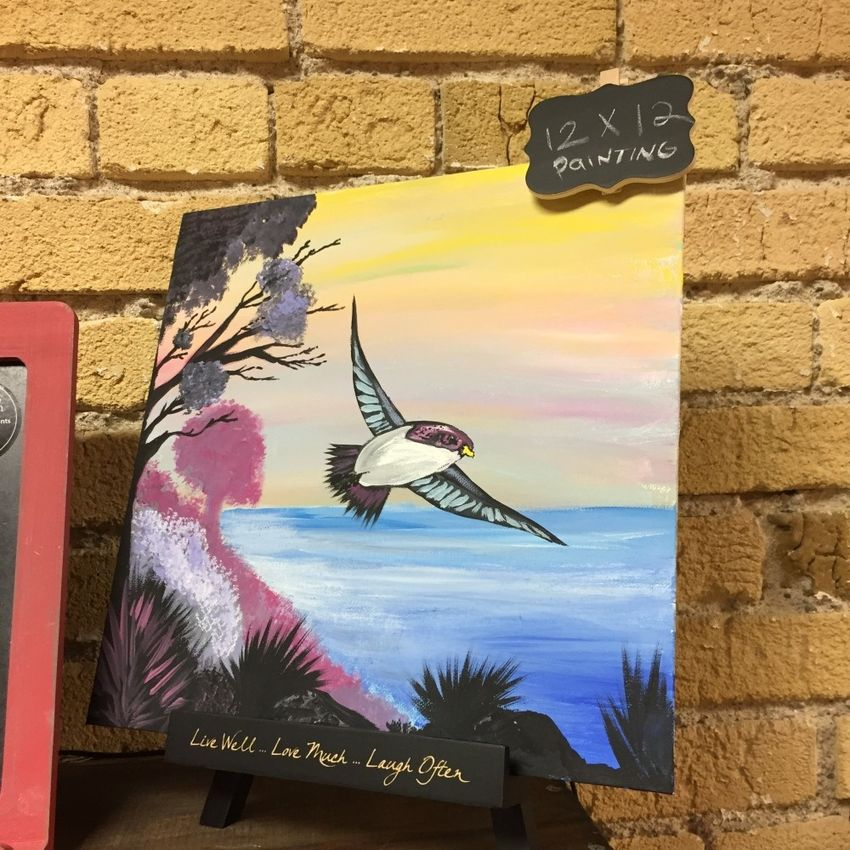 My painting at the Spice Topia store at Ventura, CA