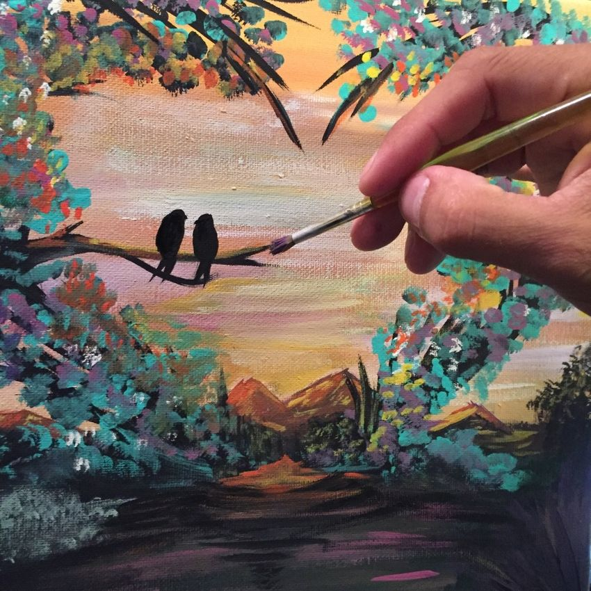"Painting ""Natures Love""."