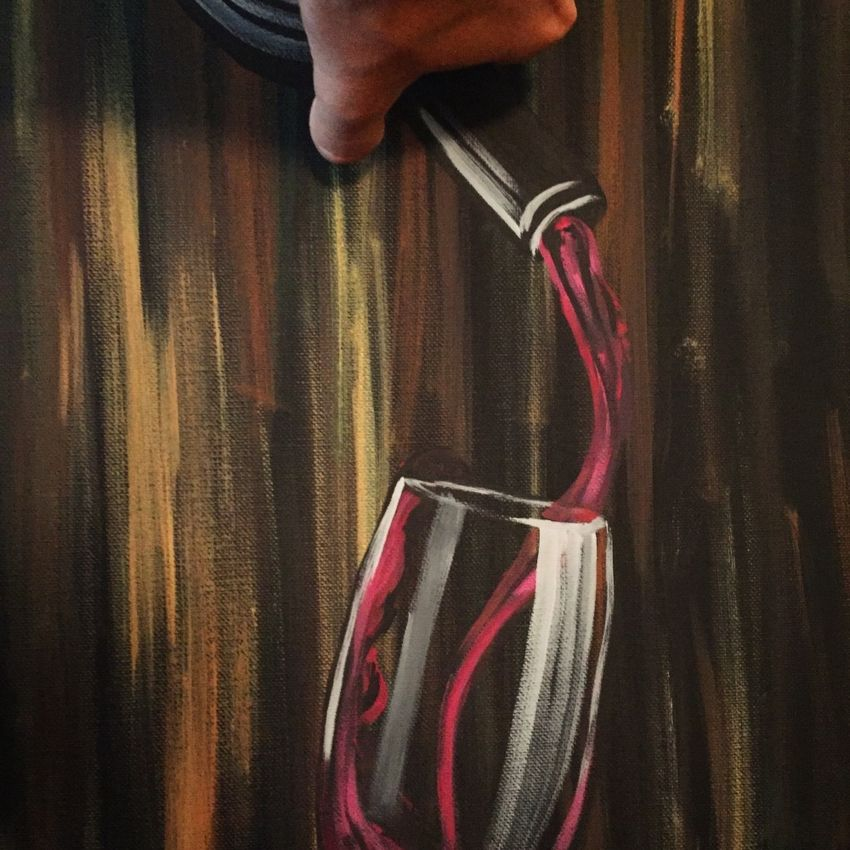 Pouring the wine.