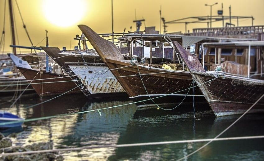 """Dhow Sunrise"" Limited Edition, Photography, Fine Art, Landscape, Acrylic, Photography: Premium Print, By Chris Kay"