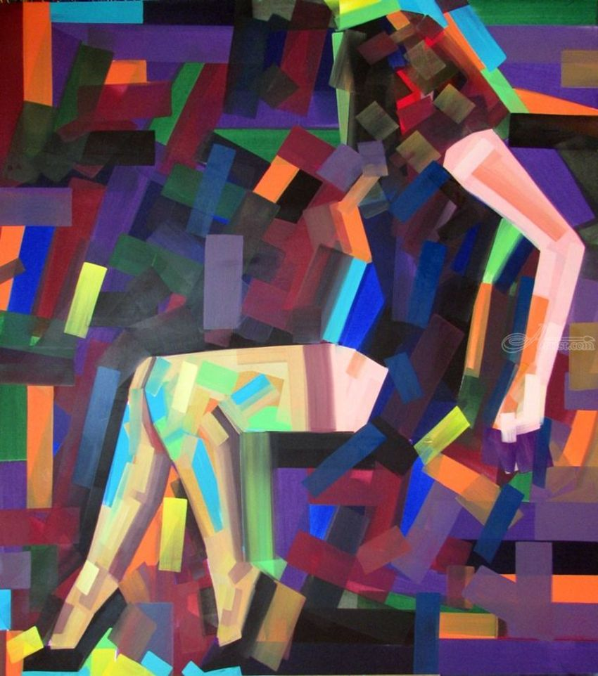 So Sheer, Paintings, Cubism, Expressionism, Pop Art, Anatomy, Erotic, Figurative, Canvas, Oil, Wood, By Piotr Ryszard Kachny