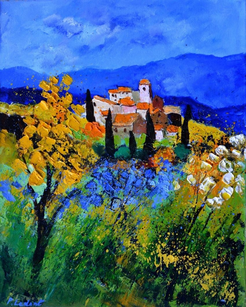 Provence 692, Paintings, Expressionism, Decorative, Canvas, By Pol Henry Ledent