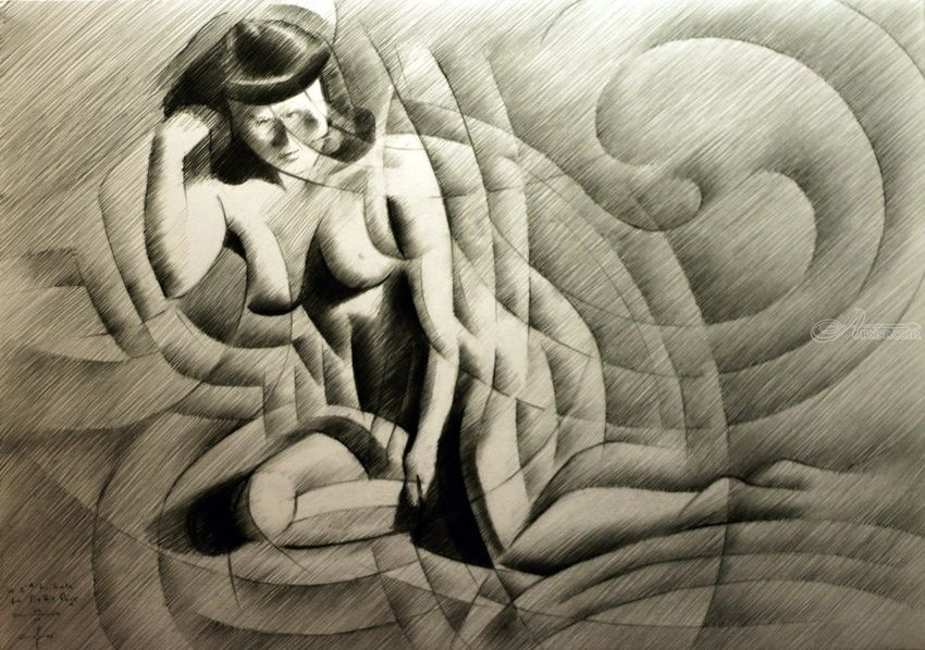 A 3rd tribute to Bettie Page - 05-09-14, Drawings / Sketch, Abstract, Cubism, Fine Art, Impressionism, Realism, Surrealism, Anatomy, Composition, Erotic, Figurative, Inspirational, Nudes, People, Pencil, By Corne Akkers