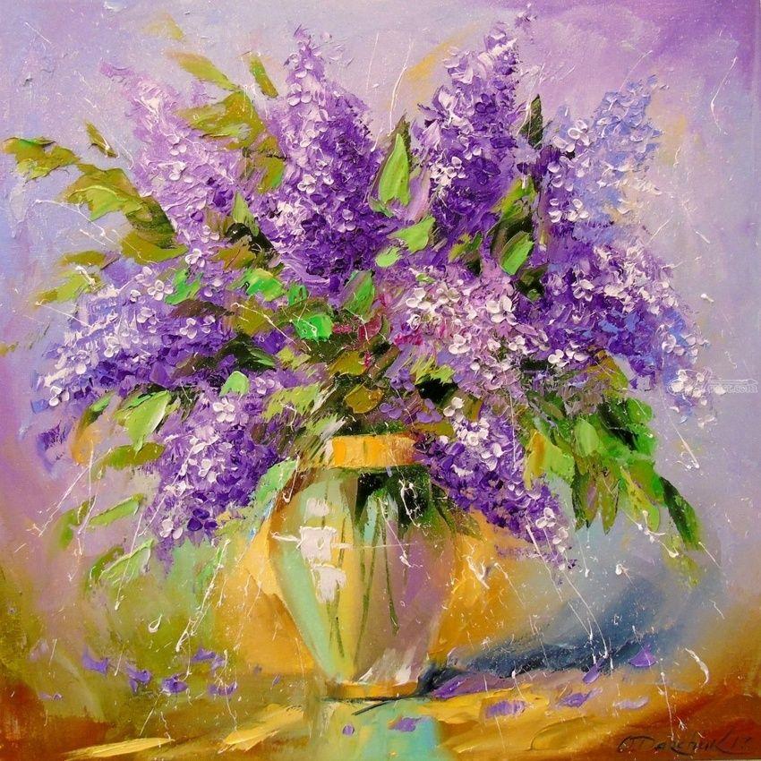 Oil Painting Impressionist Flower Bouquet