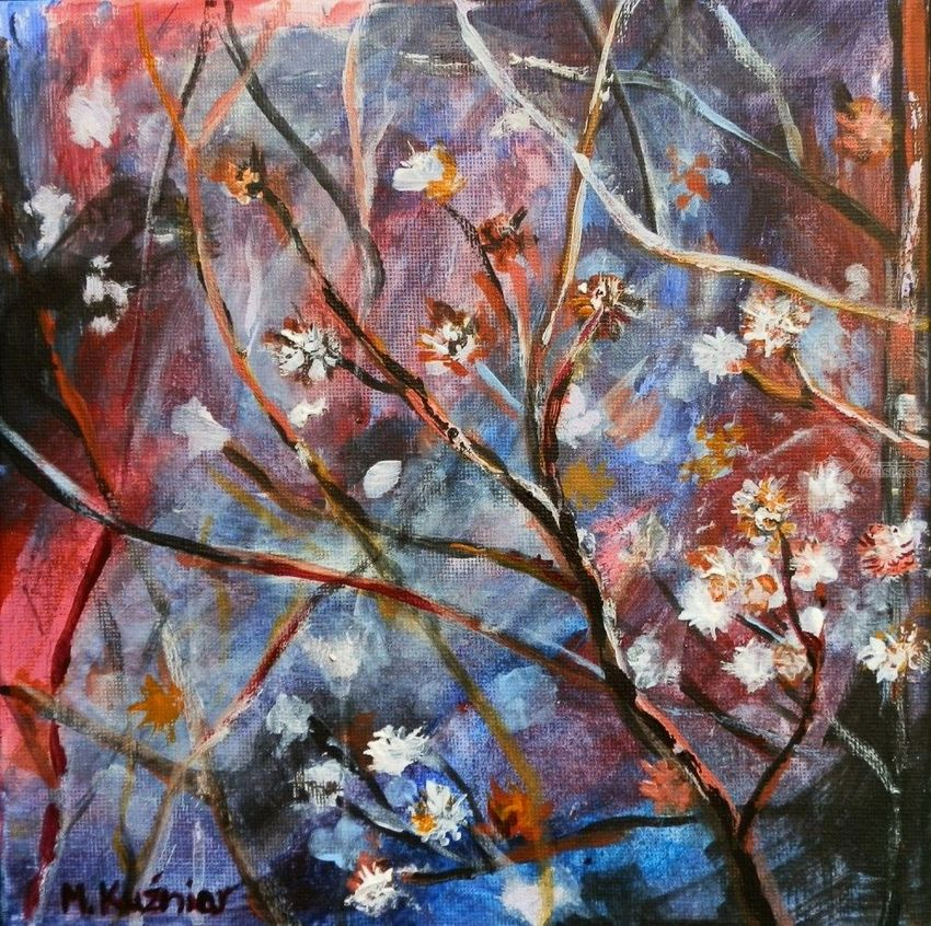 a game of colors, Paintings, Abstract, Floral,Nature, Acrylic,Canvas, By Marta Kuźniar