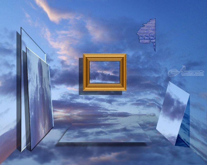 A ROOM OF ILLUSIONS, Digital Art / Computer Art, Surrealism, Fantasy, Digital, By Alan King