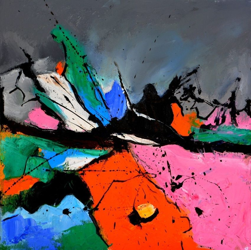 abstract 4451506, Paintings, Abstract, Decorative, Canvas, By Pol Henry Ledent