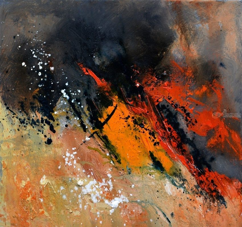 abstract 44613062, Paintings, Abstract, Decorative, Canvas, By Pol Henry Ledent