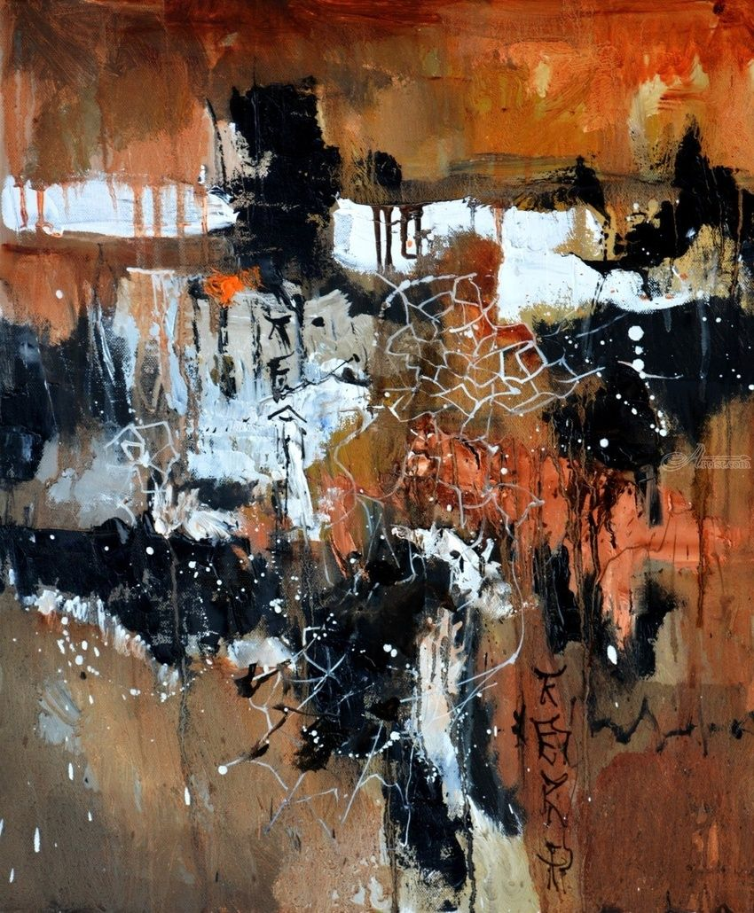 abstract 567150, Paintings, Expressionism, Decorative, Canvas, By Pol Henry Ledent