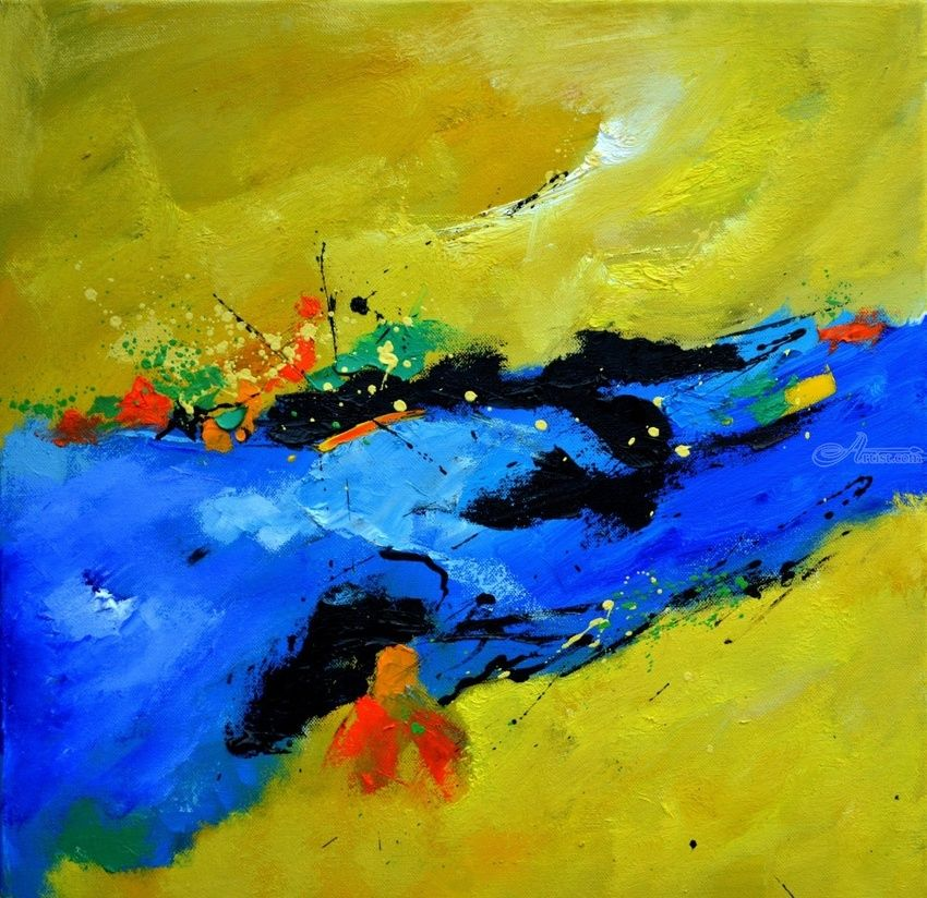 abstract 61101, Paintings, Abstract, Decorative, Canvas, By Pol Henry Ledent