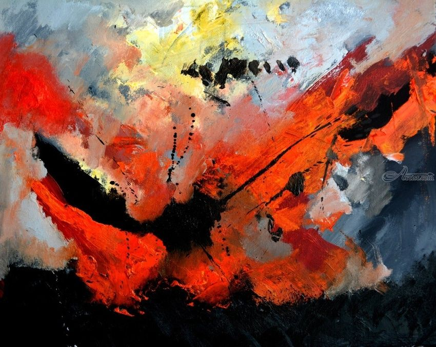 abstract 6571, Paintings, Abstract, Decorative, Canvas, By Pol Henry Ledent