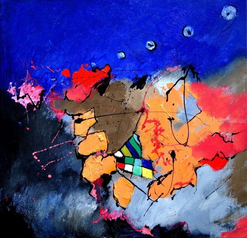 abstract 66310151, Paintings, Abstract, Decorative, Canvas, By Pol Henry Ledent