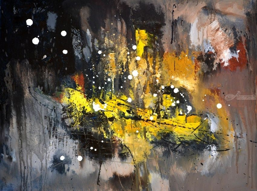 abstract 71402, Paintings, Abstract, Decorative, Canvas, By Pol Henry Ledent