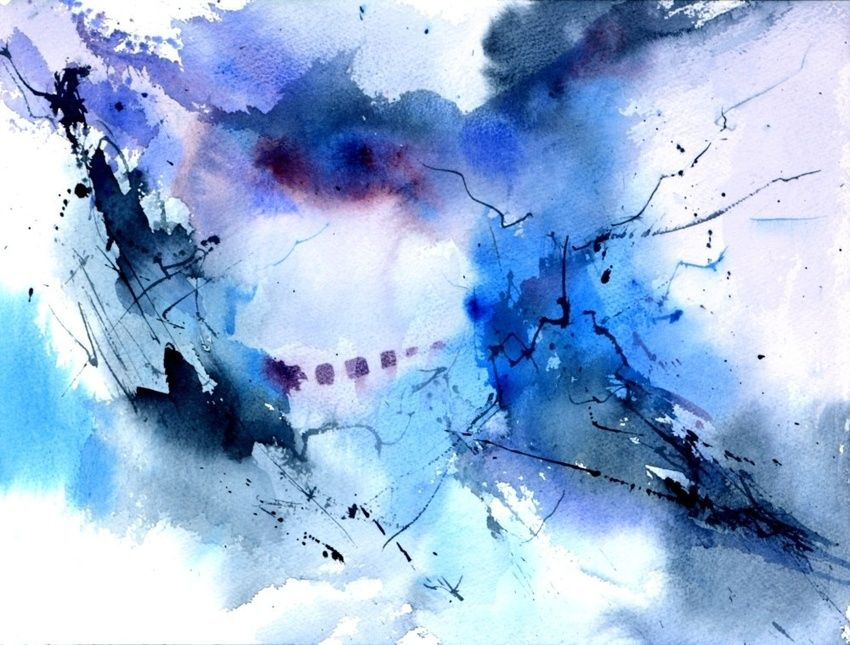 abstract 716072, Paintings, Abstract, Decorative, Watercolor, By Pol Henry Ledent
