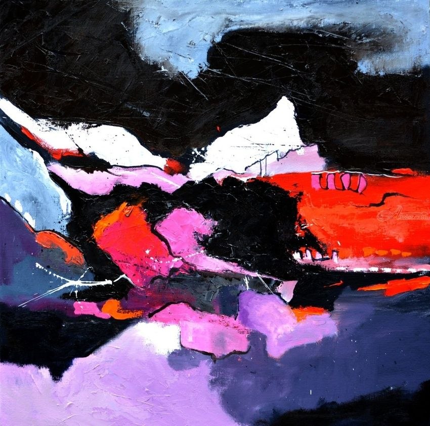 abstract 7751202, Paintings, Abstract, Decorative, Canvas, By Pol Henry Ledent